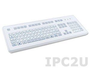 TKS-105c-KGEH-PS/2 Настольная промышленная IP65 клавиатура, 105 клавиш, PS/2