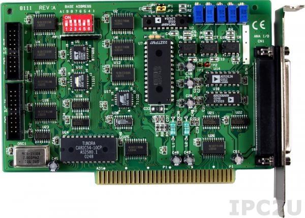 A-8111 Многофункциональный адаптер ISA, 8SE каналов АЦП, 1 канал ЦАП, 16DI, 16DO