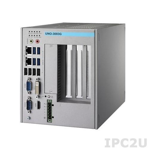 UNO-3083G-D44E Встраиваемый компьютер c CPU Intel i7-2655LE 2.2ГГц, 4ГБ DDR3 RAM, DVI-I, HDMI, 2xGB LAN, 2xRS-232/422/485, 2xRS-232 (опция), 1xPCIe x16, 2xPCI, 2xMiniPCIe