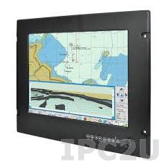"R15L600-MRM2 15"" TFT LCD монитор для морского использования, 1024x768, яркость 400 нит, VGA, DVI-D, S-Video, Composite, питание 24В DC, защита по передней панели IP66"