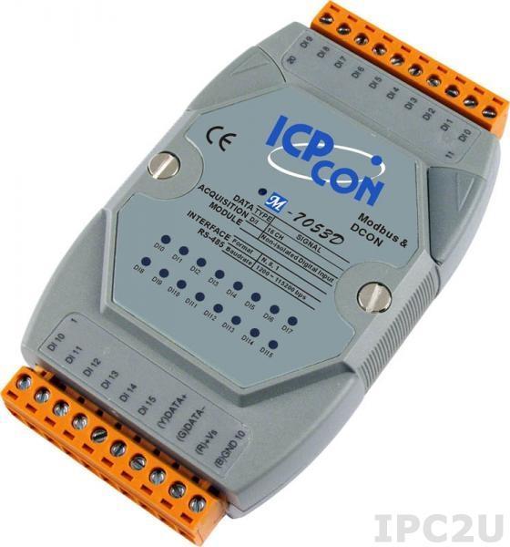 M-7053D Модуль ввода, 16 каналов дискретного ввода,с индикацией, Modbus RTU