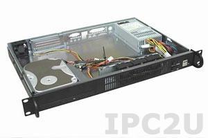 "GHI-108 19"" корпус 1U, Mini-ITX, отсеки 1x5.25"" Slim/1x3.5"" HDD, 1x2.5"" HDD, без источника питания"