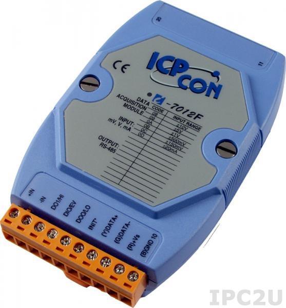 I-7012F Скоростной модуль ввода - вывода, 1 канал аналогового ввода / 1 канал дискретного ввода / 2 канала дискретного вывода