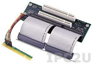 GHP-200 Объединительная Riser плата 2xPCI, 1xISA слотов для корпусов 2U, в комплекте с двумя шлейфами и кабелем для подключения к материнской плате, в изоляции ПВХ, 5В DC