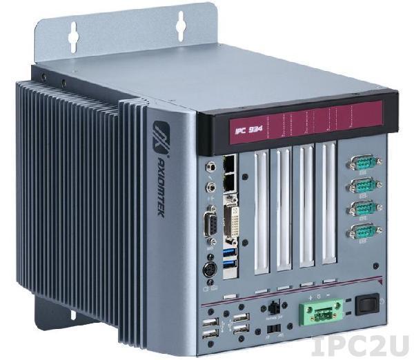 IPC934-230-FL-AC-HAB105 Многослотовый встраиваемый компьютер с Intel Core i7/ i5/ i3, до 3.3 ГГц, Intel Q87 чипсет, 2xPCI, 1xPCIe x1, 1xPCIe x16, ATX DC-IN 150Вт P/S, адаптер питания AC-DC 150Вт, 90...264VAC, кабель питания US