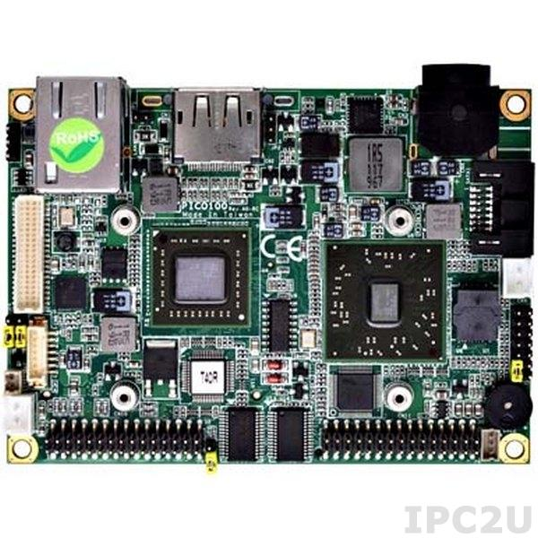 PICO100VGA-T40R Процессорная плата Pico-ITX с процессором AMD G-Series APU T40R 1ГГц, VGA/LVDS, Gigabit Ethernet, 2xCOM, 4xUSB, Audio