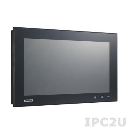 "PPC-4151W-P5AE Безвентиляторная панельная рабочая станция с 15.6"" TFT LCD LED, емкостный сенсорный экран, Intel Core i5-4300U 1.9ГГц, 1xSO-DIMM DDR3L, 1x2.5"" SATA HDD, 1xmSATA, 5xCOM, 5xUSB, VGA, DisplayPort, 2xLAN, 1xMiniPCIe, 1xPCIe x1, Аудио, питание 9-32В DC"