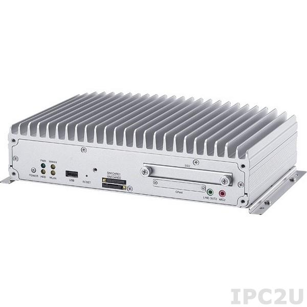 VTC-7110-BK Встраиваемый компьютер для транспорта, Intel Core i7 1.5ГГц, 2Гб DDR3, модуль GPS, VGA/LVDS, 2xGB LAN, RS-232, RS-485/422, 4xUSB, 4xGPI, 4xGPO, CFast, 2xMini PCI express