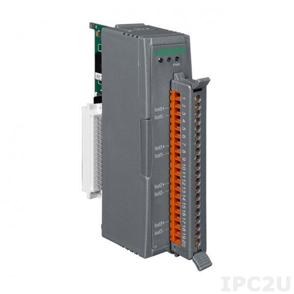 I-87024CW Модуль ввода-вывода, 4 канал AO, 12 бит, приемник, 0 - 20 мА, изоляция