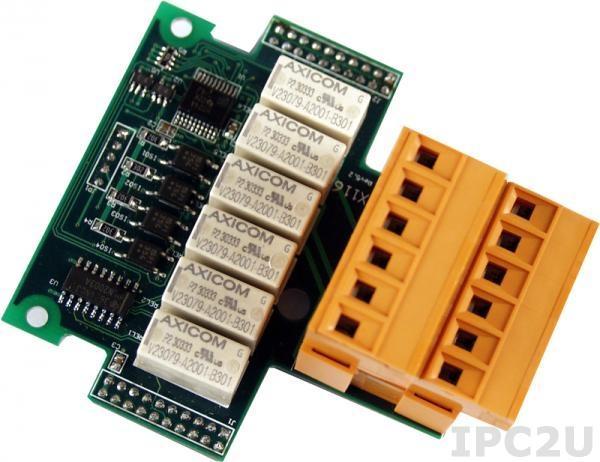 X116 Модуль дискретного 4-канального ввода и 6-канального релейного вывода