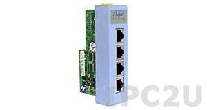 I-8114/C4 Низкопрофильный коммуникационный 4-х канальный модуль RS-232 с 4 кабелями CA-RJ0903 (DB9M-RJ45 (30см))