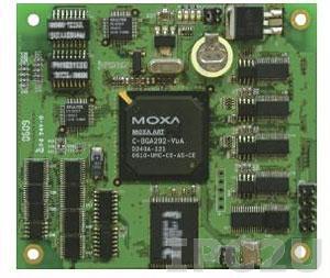 EM-1240-T-LX Универсальный встраиваемый RISC-модуль с 4 портами RS-232/422/485, 2 портами 10/100 Ethernet, SD, мClinux, с расширенным температурным диапазоном -40..+75 С