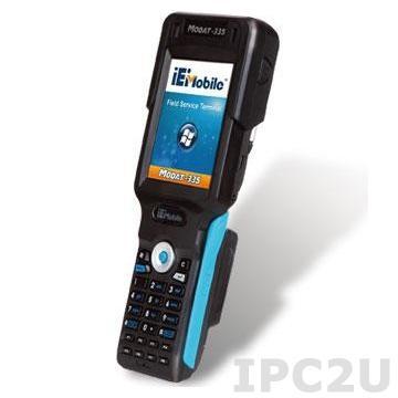 "MODAT-335-GPRS-WB65-En Карманный защищенный компьютер PDA 3.5"" TFT LCD, резистивный сенсорный экран, Marvell PXA 310 624МГц, 256Мб Flash+256Мб SDRAM, 1xMicroSD слот, GPRS/GSM, WiFi, Bluetooth, RFID, 1D barcode, 5МП Камера, Audio, питание 100-240В AC, Windows mobile 6.5"