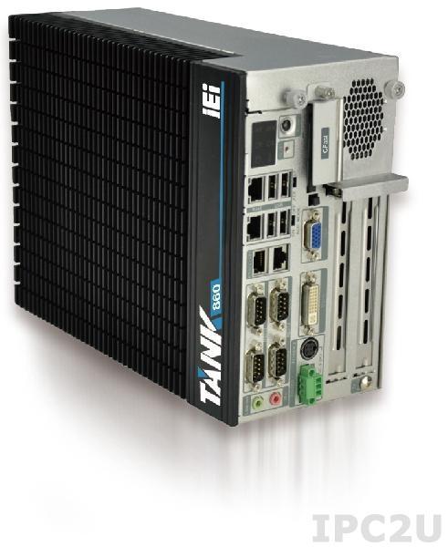 "TANK-860-HM86i-C/4G/6A Защищенный компьютер Intel Core i5-4400E 2.7Ггц, Intel HM86, 4Гб DDR3 RAM, VGA/DVI-I/DisplayPort, 2xLAN, 4xCOM, 6xUSB, 3 x PCIe и 3 x PCI, 2 отсека 2.5"" SATA HDD, CFast, mSATA, Audio, -20...+70C, iRIS-2400 опция, 9В~36В DC"