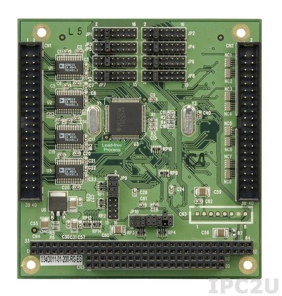 PM-1028-8 PC/104 адаптер 8xRS-232, 921.6Кбод