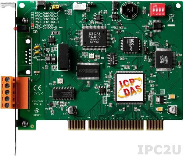 PISO-CM100U-T 1-портовый Universal PCI адаптер интерфейса CAN, винтовые клеммы