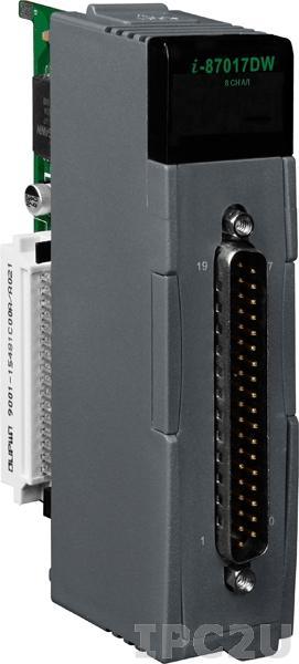 I-87017DW Высокопрофильный модуль ввода, 8/16 каналов аналогового ввода, 16-бит, DB-37, защита от высокого напряжения, последовательная шина