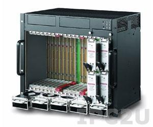 cPCIS-3320/AC 9U CompactPCI двухсистемный корпус с пассивной объединительной платой 64 бит, слоты 1+7 и 1+4, H.100, разъемы I/O на задней панели, дублированный источник питания AC 3+1 (750Вт + 250Вт)