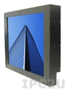 """S17L540-RMM1 17"""" TFT LCD монитор для монтажа в панель c IP22 по всему корпусу, 1280x1024, без сенсорного экрана, алюминиевая передняя панель DVI, VGA, Audio, с блоком питания 100-240В AC, вход питания 12В DC"""
