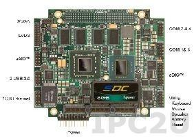 CMA22MVD1200HR-2048 PCI/104-Express процессорная плата с Intel Core 2 Duo 1.2ГГц, 2Гб DDR2, VGA/LVDS, 4xRS232/422/485, 6xUSB, 2xSATA, 4 Гб съемный флеш-диск