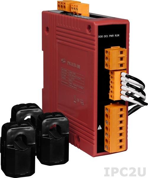 PM-3133-160-CPS 3-фазный компактный измеритель напряжения и тока, кабель 16мм (0-100A), до 500 В, 50/60Гц, CANOpen
