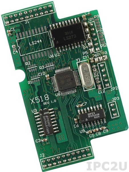 X518 Модуль 1xRS-232, 8 DO, для I-7188XB/EX/XG/EG