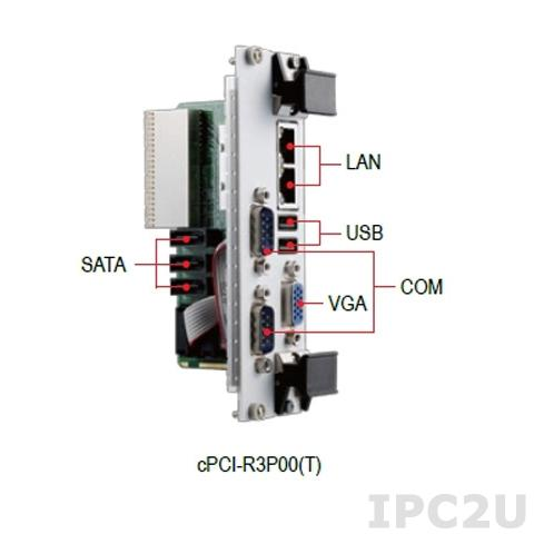 cPCI-R3P00T/CC Дополнительный модуль для плат серии cPCI-3970 с 2xGbE, 2xCOM, 2xUSB, 3xSATA, VGA, 80 мм, защитное покрытие