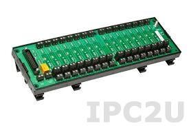 8BP16-2 Плата клеммников для установки 16 модулей нормализаторов сигналов серии 8B, без датчиков компенсации холодного спая, до 50В