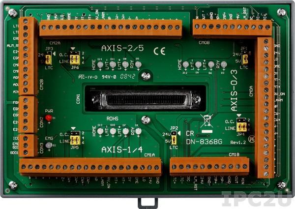 DN-8368GB Опто-изолированная выносная плата с гальванической изоляцией для адаптеров четырехкоординатного управления движением PISO-PS4000, I-8094, 0.5 A /24 VDC
